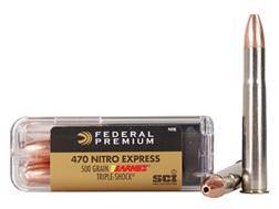 Federal Premium Cape-Shok Ammunition 470 Nitro Express 500 Grain Barnes Triple-Shock X Bullet Box of 20
