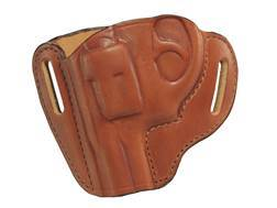 Bianchi 57 Remedy Outside the Waistband Holster Left Hand Ruger LCR Leather Tan