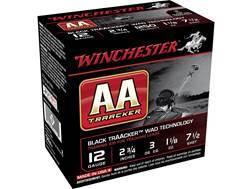"Winchester AA Heavy TrAAcker Ammunition 12 Gauge 2-3/4"" 1-1/8 oz #7-1/2 Shot Black Wad"