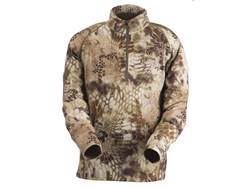 Kryptek Men's Merino Wool Base Layer Shirt Long Sleeve 1/4 Zip Wool Highlander Camo XL 46-48