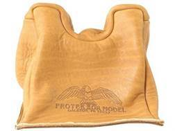 Protektor Standard Front Shooting Rest Bag Leather Tan Unfilled