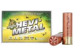 "Hevi-Shot Hevi-Metal Waterfowl Ammunition 12 Gauge 3"" 1-1/4 oz BBB Hevi-Metal Non-Toxic Box of 25"