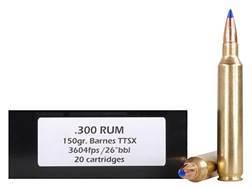 Doubletap Ammunition 300 Remington Ultra Magnum 150 Grain Barnes Tipped Triple-Shock X Bullet Lead-Free Box of 20