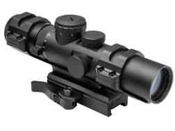 NcStar XRS Series Compact Rifle Scope 34mm Tube 2-7x 32mm Blue Illuminated Mil-Dot Reticle with W...