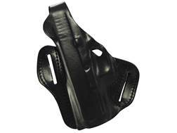 DeSantis F.A.M.S. Outside the Waistband Holster with Lock Hole Left Hand Glock 26, 27 Leather Black