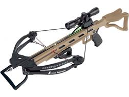 Carbon Express X-Force Advantex Crossbow Package with 4x32 Multi-Reticle Scope Tan