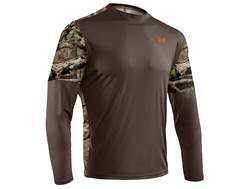 Under Armour Men's Wylie Crew Shirt Long Sleeve Polyester Timber and Mossy Oak Break-Up Infinity Camo Medium 38-40