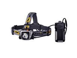 Fenix HP30 Headlamp White LED with 2 18650 Rechargeable Batteries Aluminum and Polymer Grey