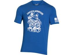 Under Armour Men's UA Freedom by Sea T-Shirt Short Sleeve Cotton and Polyester Ultra Blue Large