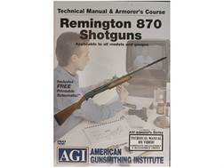 "American Gunsmithing Institute (AGI) Technical Manual & Armorer's Course Video ""Remington 870 Shotguns"" DVD"