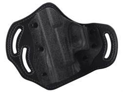 DeSantis Intimidator Belt Holster Left Hand Glock 17, 19, 22, 23 Kydex and Leather Black