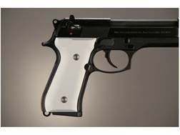 Hogue Extreme Series Grip Beretta 92F, 92FS, 92SB, 96, M9 Aluminum Matte Clear