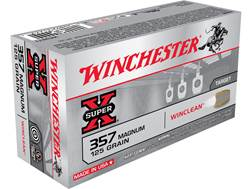 Winchester USA WinClean Ammunition 357 Magnum 125 Grain Jacketed Flat Nose