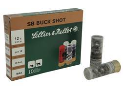 "Sellier & Bellot Ammunition 12 Gauge 2-3/4"" 00 Buckshot 12 Pellets Box of 25"