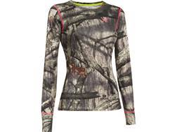 Under Armour Women's EVO HeatGear Crew Shirt Long Sleeve Polyester Mossy Oak Treestand Camo