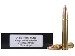 Doubletap Ammunition 416 Remington Magnum 400 Grain Nosler Partition Spitzer Box of 20