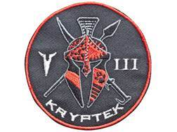 Kryptek Embroidered Unit Patch Hook-&-Loop Fastener Black