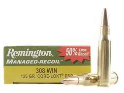 Remington Managed-Recoil Ammunition 308 Winchester 125 Grain Core-Lokt Pointed Soft Point Box of 20