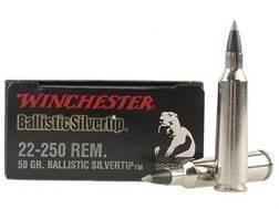Winchester Supreme Ammunition 22-250 Remington 50 Grain Ballistic Silvertip