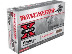 Winchester Super-X Ammunition 6mm Remington 100 Grain Power-Point
