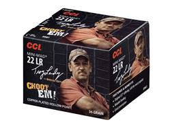 CCI Mini-Mag High Velocity Ammunition Troy Landry Special Edition 22 Long Rifle 36 Grain Plated Lead Hollow Point Box of 300