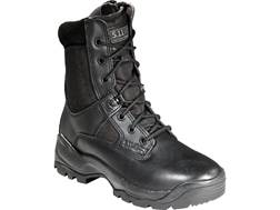 """5.11 ATAC 8"""" Tactical Boots Side Zip Leather and Nylon Black Women's"""