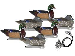 Hard Core Pre-Rigged Duck Floater Decoy Pack of 6