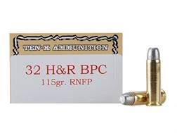 Ten-X Cowboy Ammunition 32 H&R Magnum 115 Grain Lead Round Nose BPC Box of 50