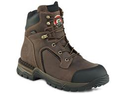 "Irish Setter Two Harbors 6"" Waterproof Steel Toe Work Boots Leather Brown Men's"