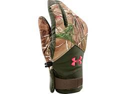 Under Armour Women's ColdGear Infrared Scent Control Gloves Waterproof Insulated Polyester Realtree Xtra