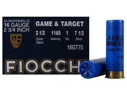 "Fiocchi Dove & Target Ammunition 16 Gauge 2-3/4"" 1 oz #7-1/2 Shot"