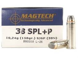 Magtech Sport Ammunition 38 Special +P 158 Grain Semi-Jacketed Soft Point