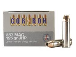 Cor-Bon Self-Defense Ammunition 357 Magnum 125 Grain Jacketed Hollow Point Box of 20