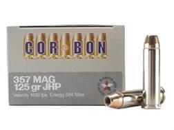Cor-Bon Self-Defense Ammunition 357 Magnum 125 Grain Jacketed Hollow Point Box of 20