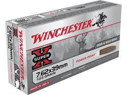 Winchester Super-X Ammunition 7.62x39mm 123 Grain Soft Point