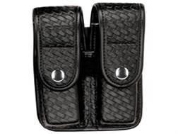 Bianchi 7902 AccuMold Elite Double Magazine Pouch Double Stack 45 ACP Chrome Snap Basketweave Trilaminate Black