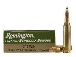 Remington Premier Ammunition 243 Winchester 90 Grain Swift Scirocco Polymer Tip Box of 20