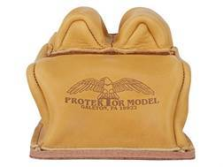 Protektor Custom Bunny Ear Rear Shooting Rest Bag with Heavy Bottom Leather Tan Unfilled