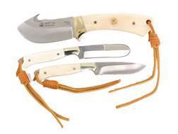 Puma SGB Trophy Care 3 Knife Set 440A German Stainless Steel Blades White Bone Handles