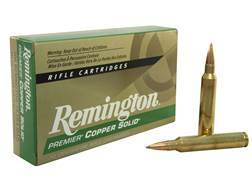Remington Premier Ammunition 300 Remington Ultra Magnum 165 Grain Copper Solid Tipped Boat Tail Lead-Free Box of 20