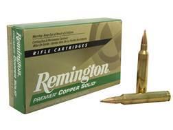 Remington Premier Ammunition 300 Remington Ultra Magnum 165 Grain Copper Solid Tipped Boat Tail Lead-Free Box of 20