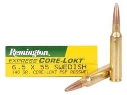 Remington Express Ammunition 6.5x55mm Swedish Mauser 140 Grain Core-Lokt Pointed Soft Point Box of 20