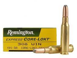 Remington Express Ammunition 308 Winchester 180 Grain Core-Lokt Soft Point Box of 20