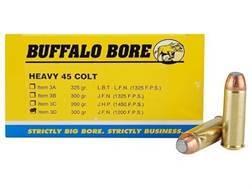 Buffalo Bore Ammunition 45 Colt (Long Colt) 300 Grain Jacketed Flat Nose Box of 50