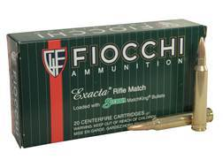 Fiocchi Exacta Ammunition 300 Winchester Magnum 190 Grain Sierra MatchKing Hollow Point Boat Tail Box of 20