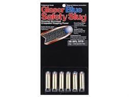 Glaser Blue Safety Slug Ammunition 38 Special 80 Grain Safety Slug