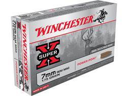 Winchester Super-X Ammunition 7mm Remington Magnum 175 Grain Power-Point