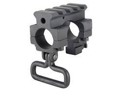 "Yankee Hill Machine Gas Block Single Picatinny Rail with Bayonet Lug & Sling Swivel AR-15 Standard Barrel .750"" Inside Diameter Steel Matte"