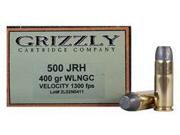 Grizzly Ammunition 500 JRH 400 Grain Lead Wide Flat Nose Gas Check Box of 20