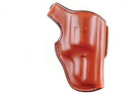 "Bianchi 55L Lightnin' Holster Right Hand Ruger SP101, S&W 640, 642 J-Frame Hammerless 2"" Barrel Suede Lined Leather Tan"